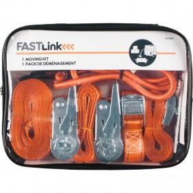 Kit déménagement - 4 tendeurs - 2 sangles bagages - 2 sangles cliquet MASTER LOCK