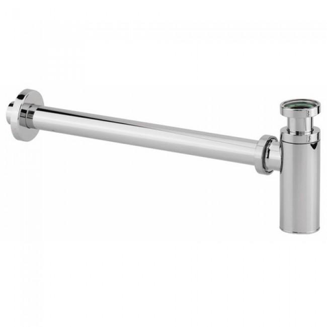 Siphon de lavabo en ABS chromé - sortie murale - Cylindrix VALENTIN
