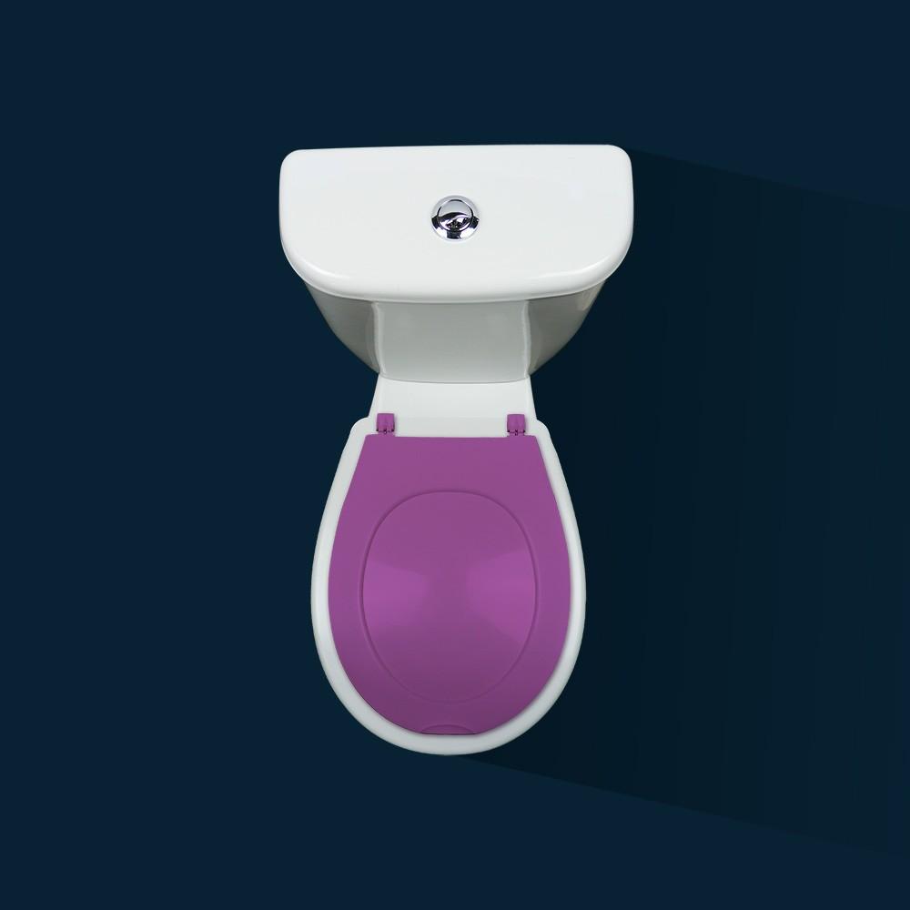coupon codes meet lowest discount Abattant wc clipsable - 100 % hygiénique - violet PAPADO sur Bricozor