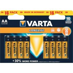 Lot de 16 piles Longlife AA VARTA