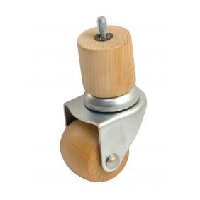 Roulette en bois sur platine pivotante - charge 80 kg AVL