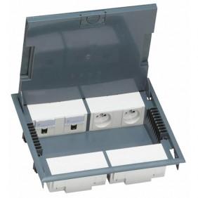 Boîte de sol à équiper à couvercle à revêtir, hauteur 65 mm, 16 modules LEGRAND