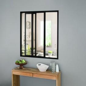 Kit verrière coulissante avec vitrage - 3 panneaux - 108 x 93,2 cm Kit Atelier