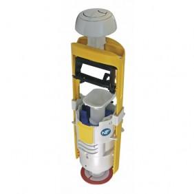 Mécanisme chasse d'eau à poussoir - double débit - Mecador 63 REGIPLAST