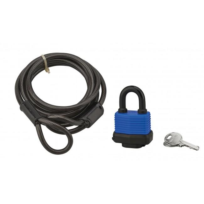 Antivol à câble avec cadenas - 6 mm - longueur 1,80 m - Twisty FTH THIRARD