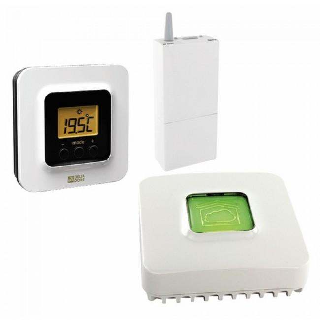 Pack régulation - thermostat d'ambiance - Tybox 5100 connecté DELTA DORE