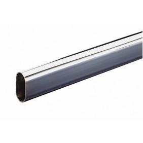 Barre de penderie ovale 30x15 mm-en acier chromé DUVAL