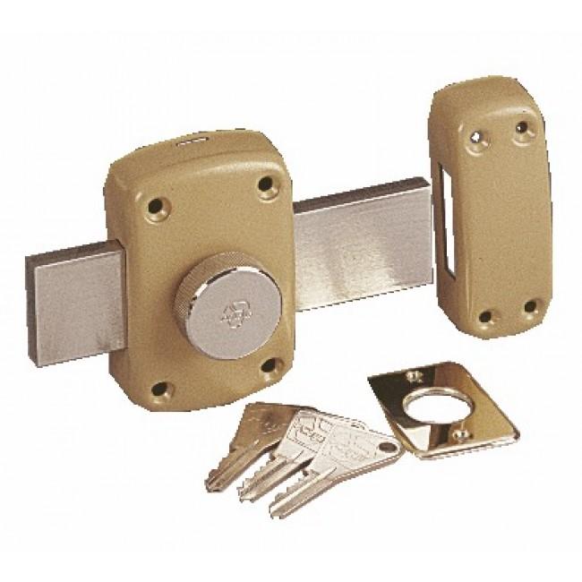 Verrou en applique - à bouton - pour porte de garage - Cyclop 7600 VACHETTE