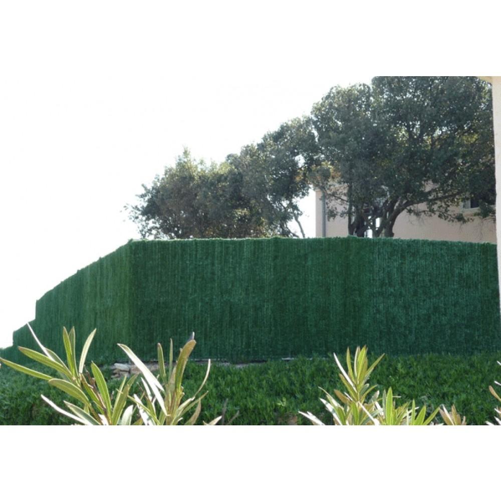 haie artificielle brise vue 126 brins vert thuyas supra jet7garden bricozor. Black Bedroom Furniture Sets. Home Design Ideas