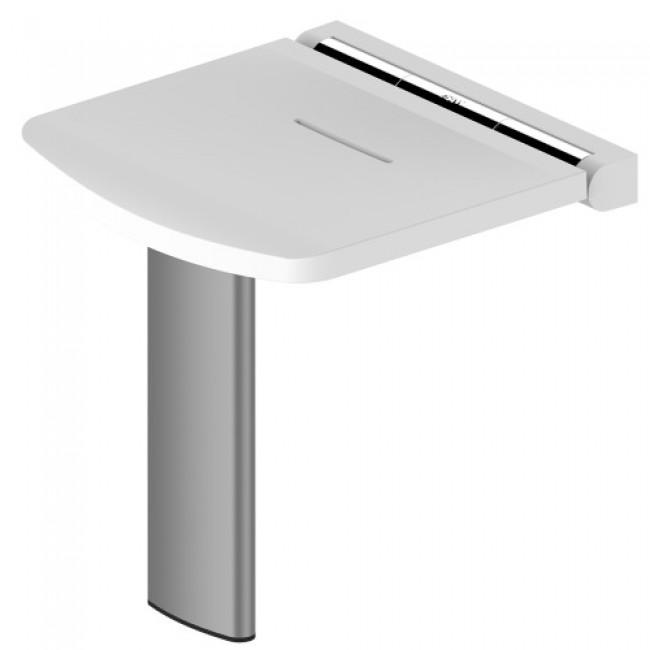 Siège de douche relevable assise ergonomique - Noir ou Blanc mat -Onyx AKW INTERNATIONAL