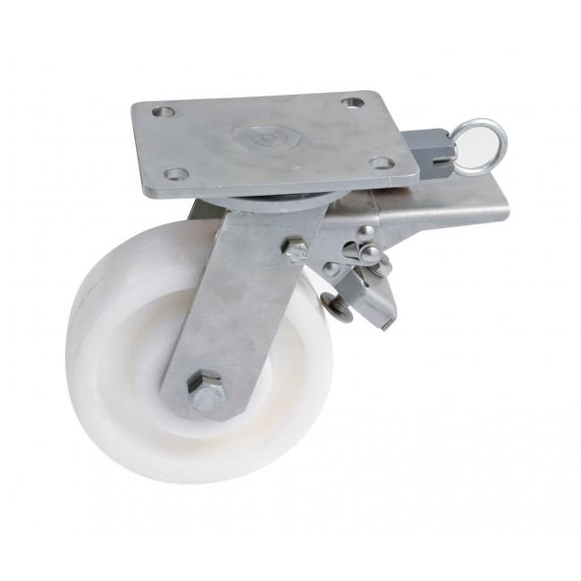 Roulette sur platine pivotante à frein à blocage directionnel AVL