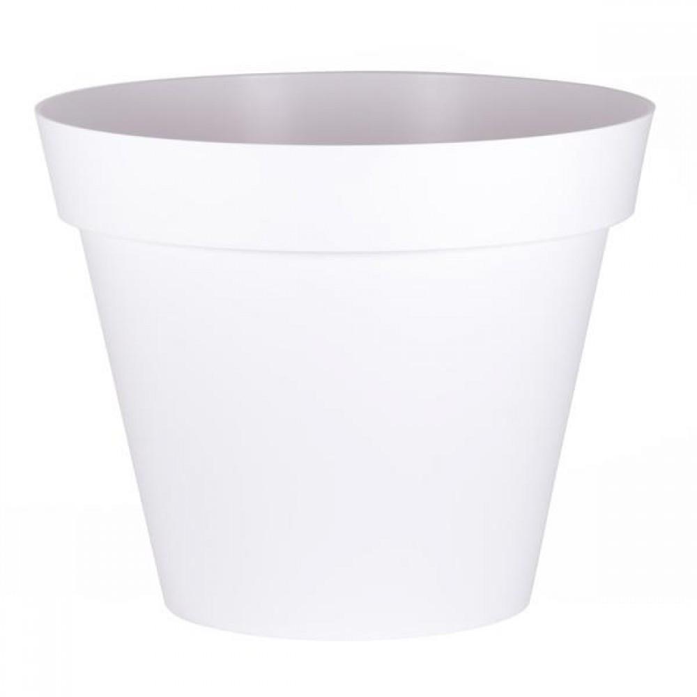 Gros Pot Fleur Plastique pot rond - 100 cm - 356 litres - toscane 13634 eda plastiques