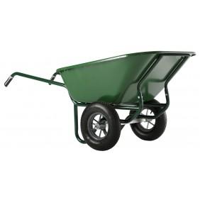 Brouette 2 roues gonflées 230 L caisse verte Expert Twin HAEMMERLIN