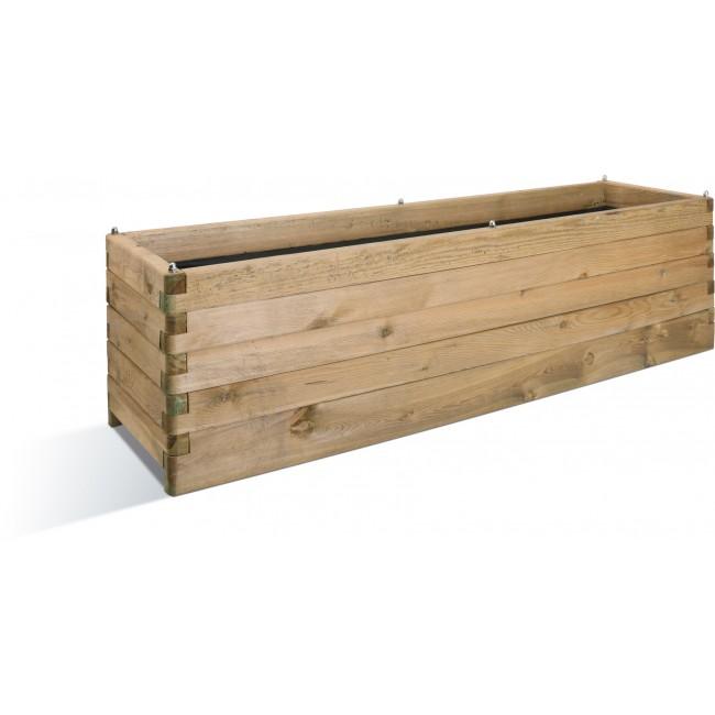 Jardinière en bois - 50 x 180 cm - 252 litres - OLEA 180 JARDIPOLYS