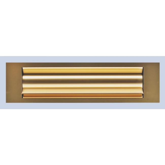 Entrée de courrier isolante pour porte bois/alu/PVC, alu anodisé or GOETTGENS SA