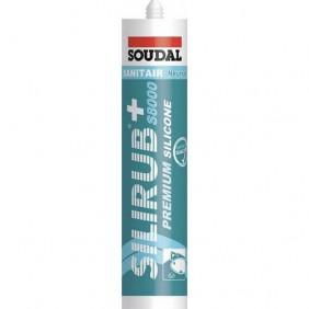 Mastic silicone sanitaire - neutre - cartouche 310 ml - Silirub+ S8000 SOUDAL