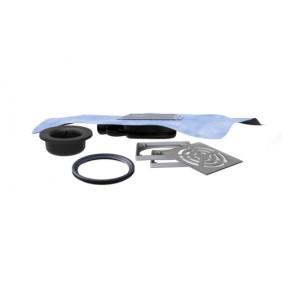 Siphon de sol - Extra-plat - sortie horizontale et orientable - Natosec LAZER
