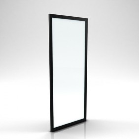 Retour - pour paroi de douche Factory - verre transparent - noir mat AURLANE