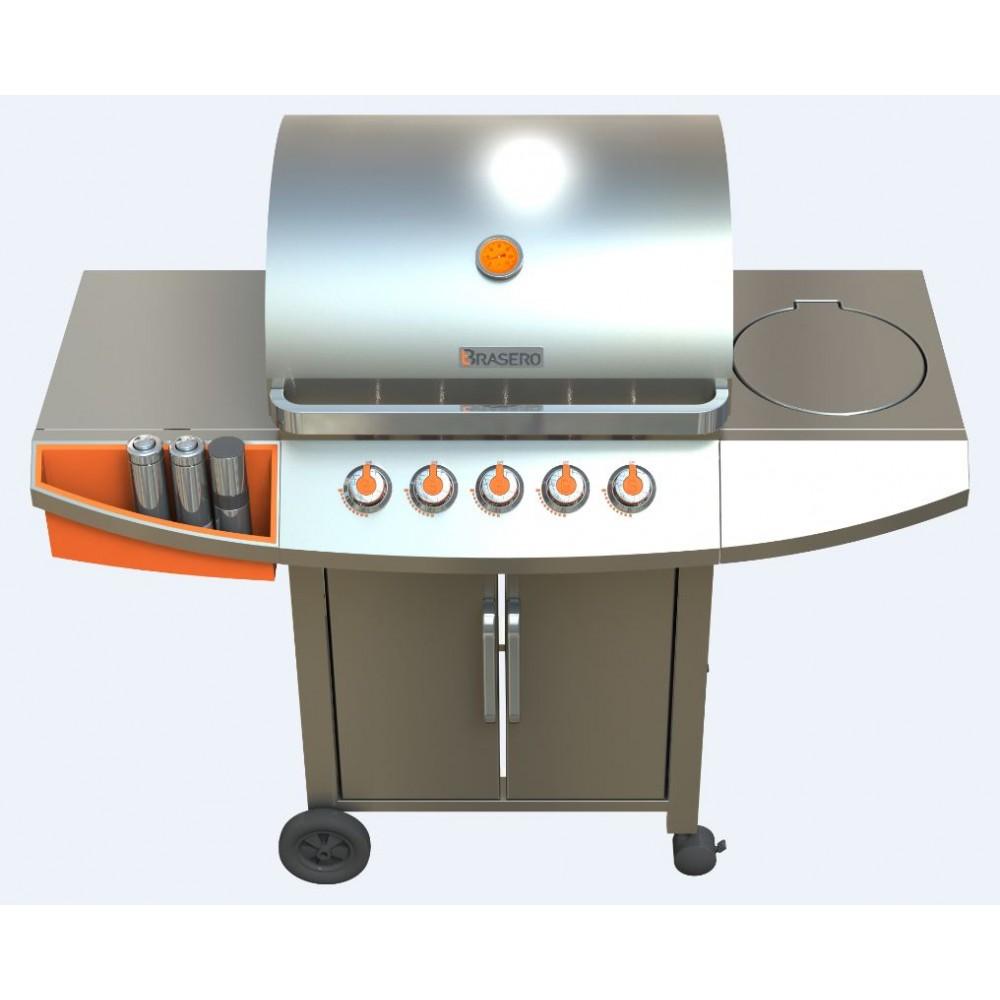 barbecue gaz inox 5 feux celeste bricozor. Black Bedroom Furniture Sets. Home Design Ideas