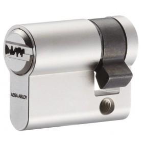 Cylindre simple à profil européen en laiton nickelé type CY 110 VACHETTE