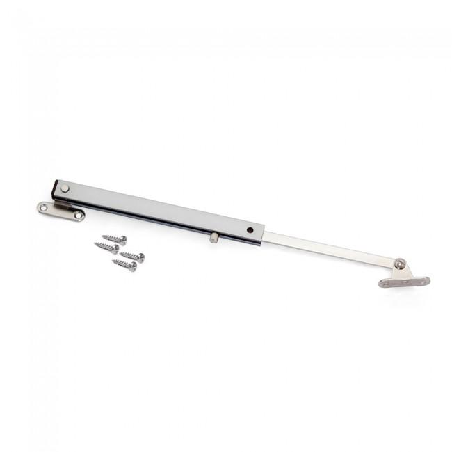 Compas pour porte à abattant en bois - réglable - anodisé mat - 1 kit EMUCA