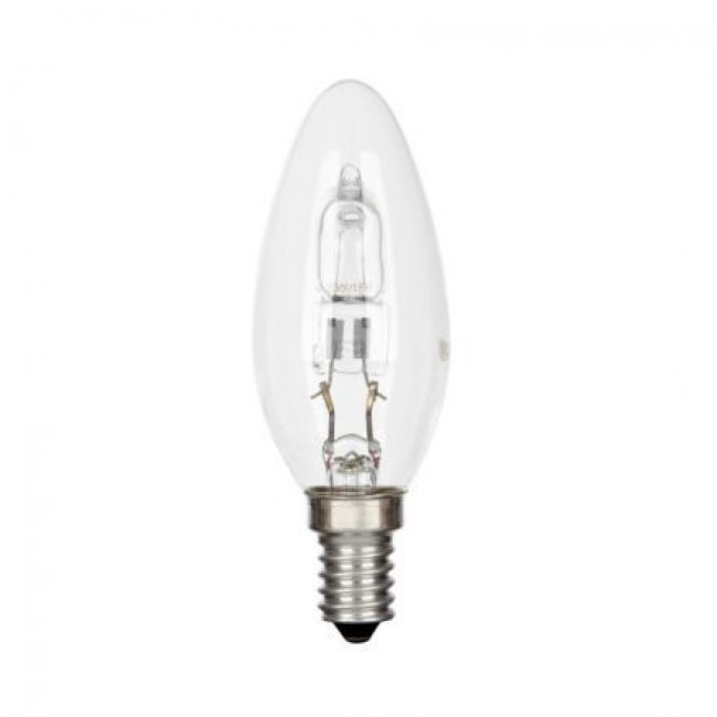 Lampe halogène flamme Halo Chandelle - culot E14 GE LIGHTING