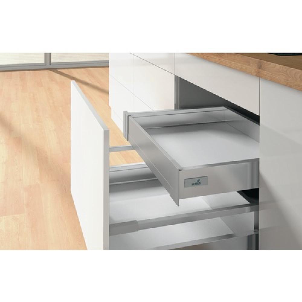 fa ade pour tiroir l 39 anglaise innotech atira hauteur 70 mm argent hettich bricozor. Black Bedroom Furniture Sets. Home Design Ideas