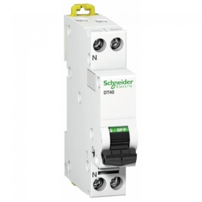 Disjoncteur unipolaire + neutre - Acti9 Prodis DT40 SCHNEIDER