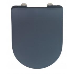 Abattant WC - Sedilo gris mat - Thermodur - Easy Close et Fix Clip WENKO