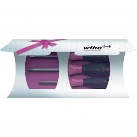 Coffret 3 tournevis SoftFinish - édition spéciale rose 302-S3 WIHA