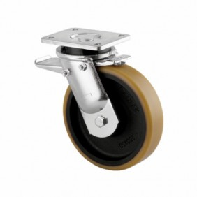 Roulette pivotante - à blocage - platine - charges lourdes - type 9652 TENTE
