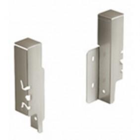 Raccords de paroi arrière pour tiroir-H126 mm-champagne HETTICH