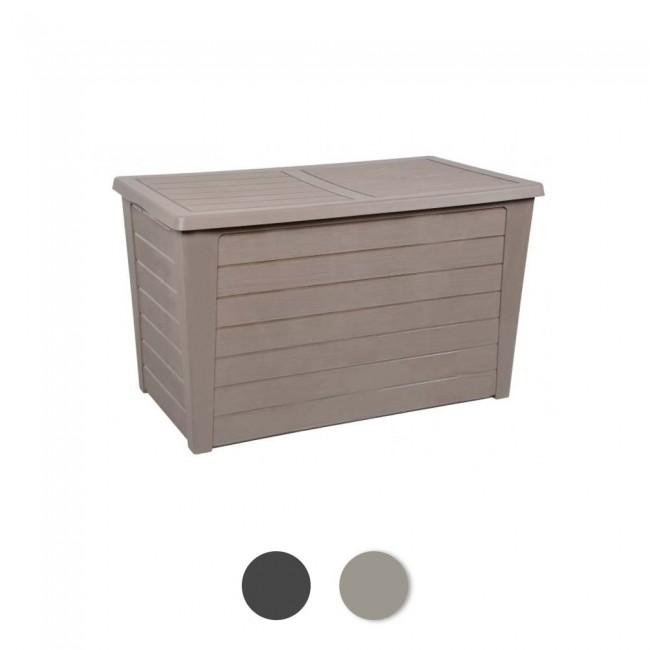 Coffre de jardin - décor bois - Baya EDA PLASTIQUES