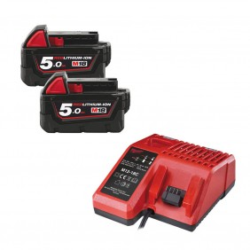 Pack chargeur + 2 batteries 18 V- 5 Ah NRJ MILWAUKEE