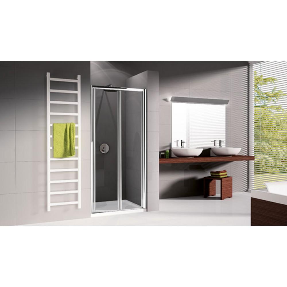 Porte de douche pliante verre transparent lunes s 84 for Porte de douche pliante