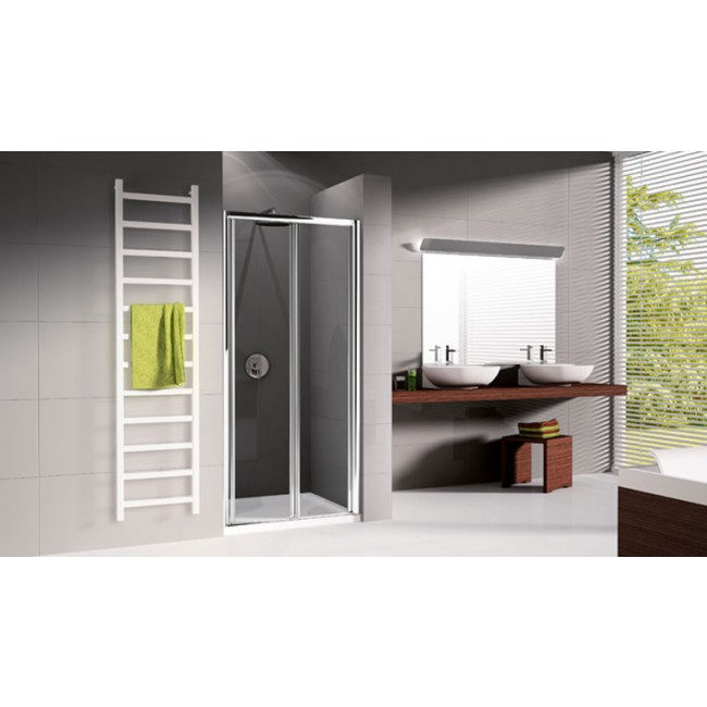 porte de douche pliante verre transparent lunes s 84 90 cm bricozor. Black Bedroom Furniture Sets. Home Design Ideas