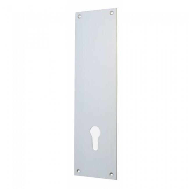 Plaque de propret pour cylindre europ en en aluminium anodis bricozor bricozor - Plaque en aluminium pour cuisine ...