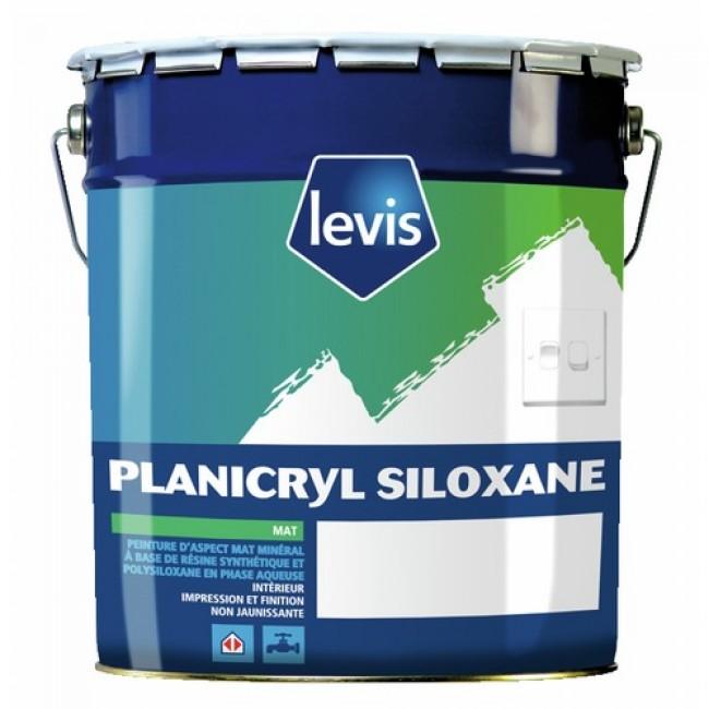 Peinture intérieure blanc mat - murs et plafonds - 5 litres LEVIS