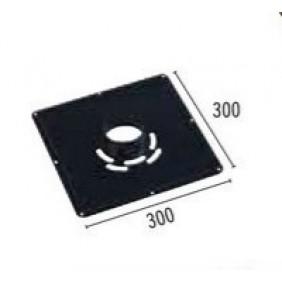 Plaque de propreté acier émail noir mat - 300 x 300 mm TEN