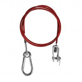 Câble de sécurité pour remorque avec 1 mousqueton et 1 attache SPOTLIGHT