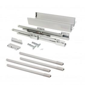 Kit tiroir Vantage-Q - hauteur 204 mm - gris métallisé EMUCA