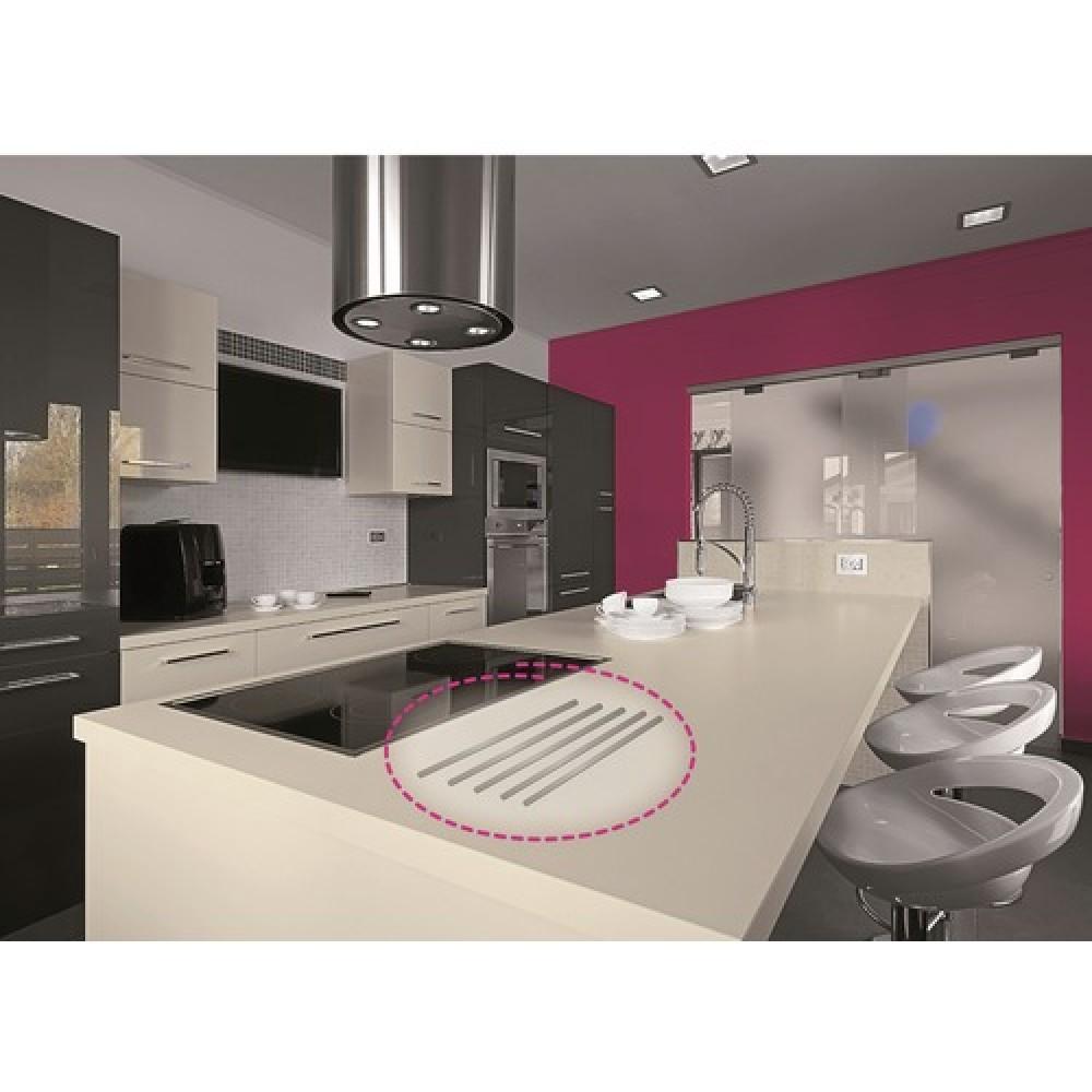 baguettes repose plat inox adh sives pour plan de. Black Bedroom Furniture Sets. Home Design Ideas