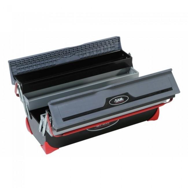 Boîte à outils bi-matière 5 cases Box-2Z SAM OUTILLAGE