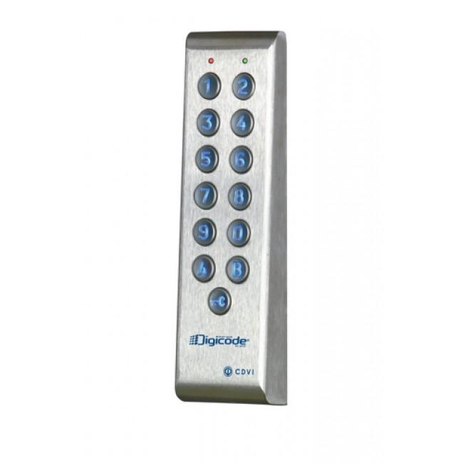 Clavier digicode PROFIL100EINT inox étroit électronique intégrée CDVI