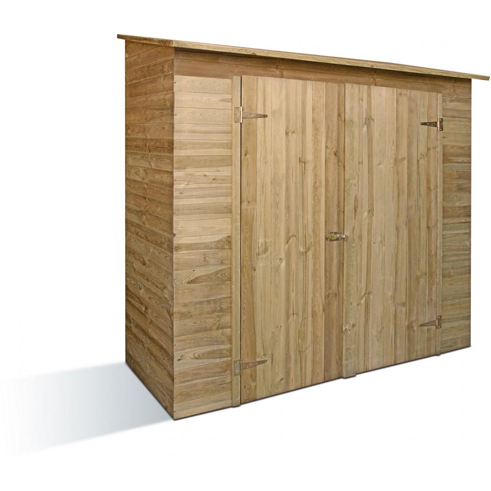 armoire de jardin en bois avec toit shingle savona. Black Bedroom Furniture Sets. Home Design Ideas
