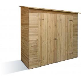 Armoire de jardin en bois  avec toit shingle - Savona JARDIPOLYS