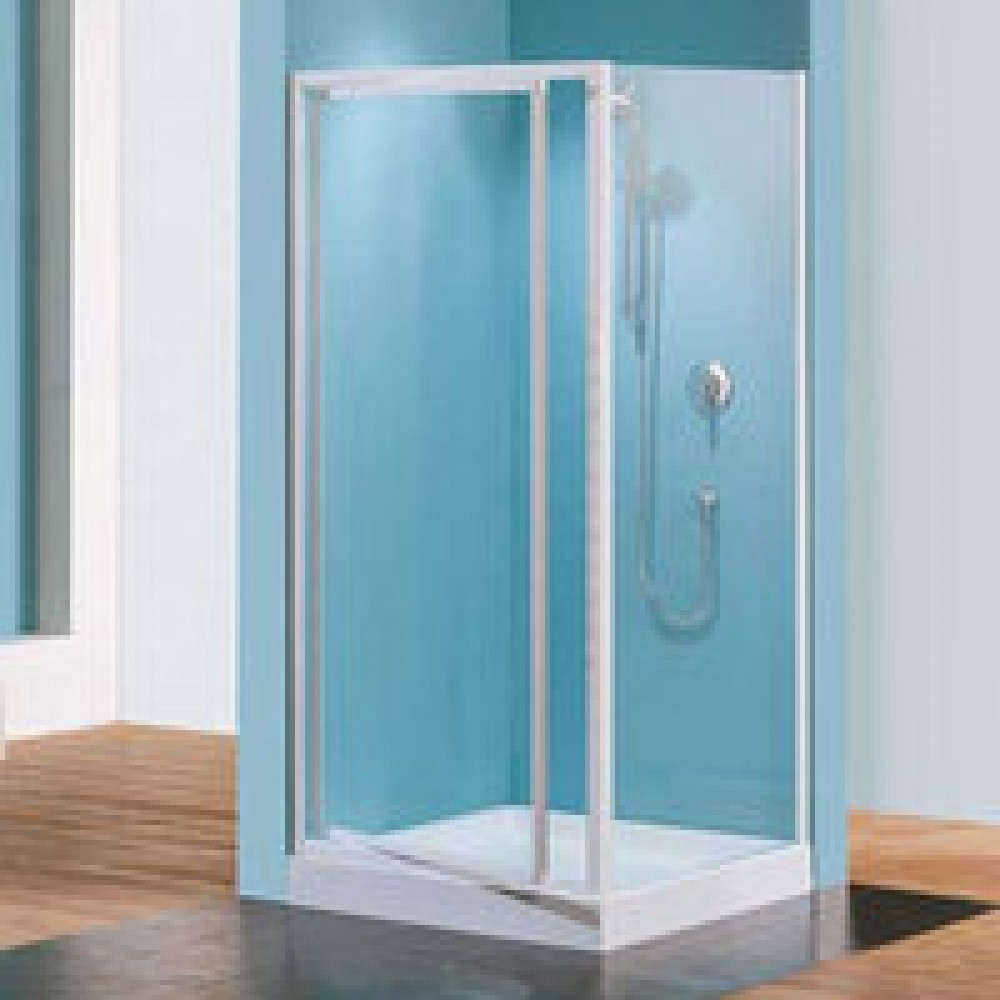 Porte douche pivotante verre transparent riviera g 78 for Portes de douches
