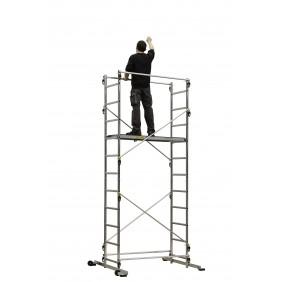 Echafaudage aluminium - hauteur de travail 4,55 m - Tek'Up