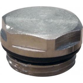 Bouchon plein pour radiateur acier - mâle 15x21 RIQUIER