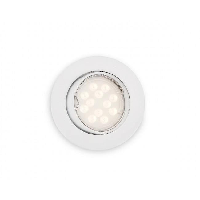 Kit spot encastré orientable LED - GU10 - 4.3 W - 3000K - Zadora blanc PHILIPS